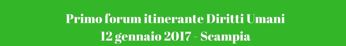 Primo forum itinerante Diritti Umani 12 gennaio 2017 - Scampia