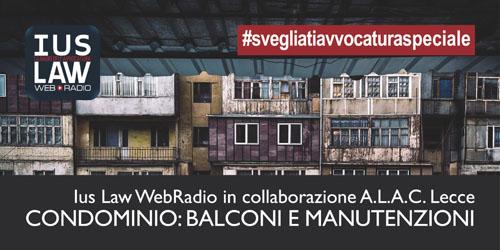 Speciale CONDOMINIO, in collaborazione con ALAC Lecce - I BALCONI ...
